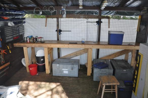 Hytteboden min. Jeg har bygget alt selv. Nesten alt materiale har tidligere vært noe annet.